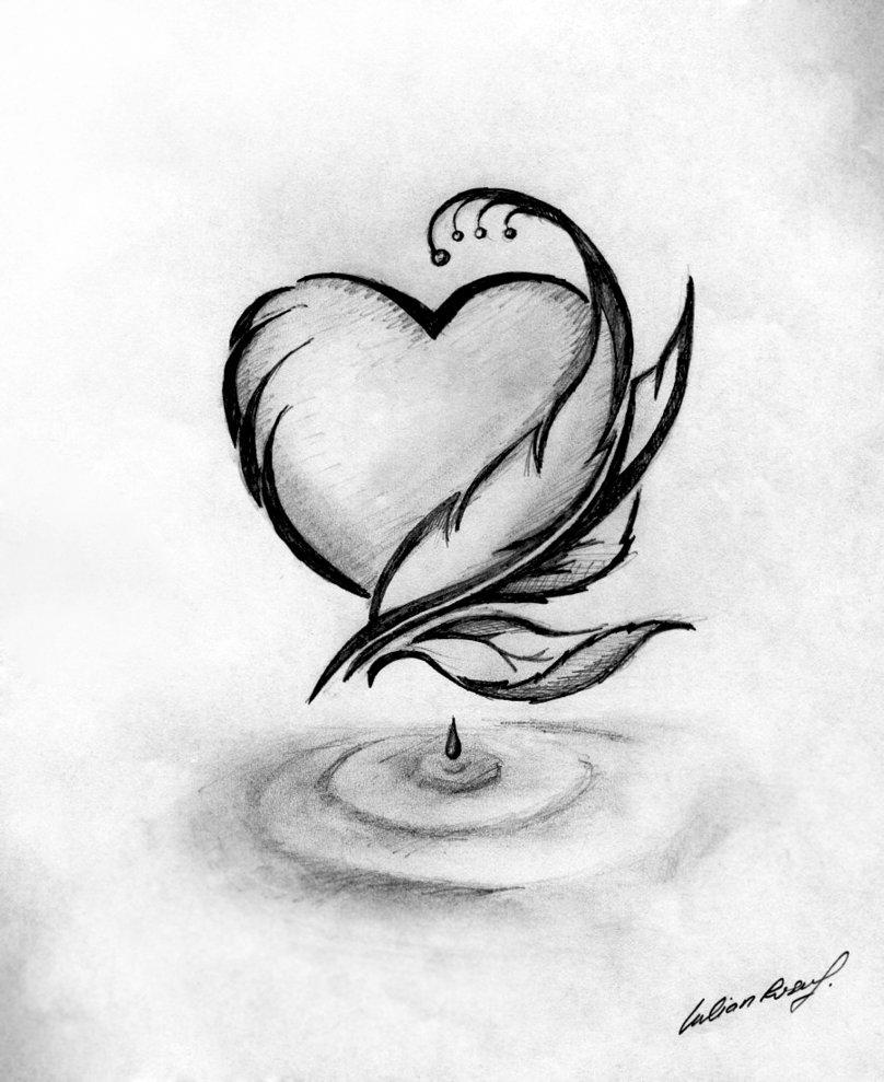 Картинки про любовь карандашом