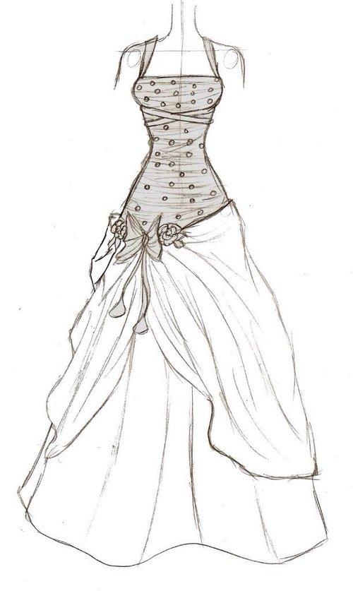 Рисунки карандашом платья для начинающих дизайнеров прочих, встречаются