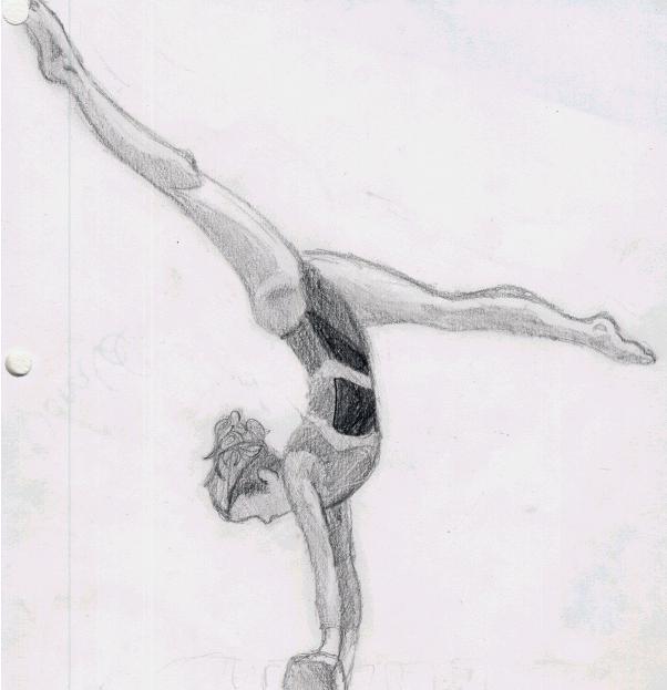 Картинки гимнастки девочки для срисовки