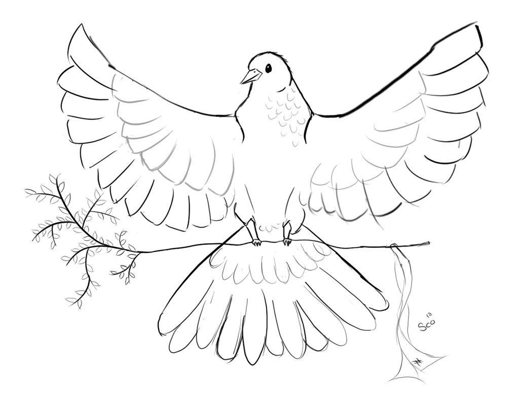 Фото как нарисовать белого голубя людей разных