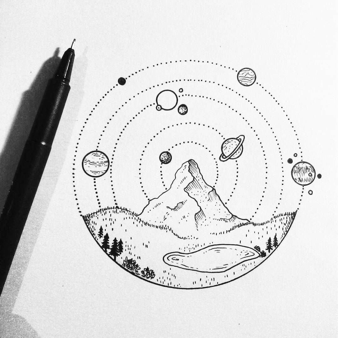 рисунки гелевой ручкой черной легкие платья