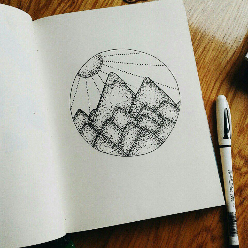Прикольные рисунки для скетчбука, тюльпаны