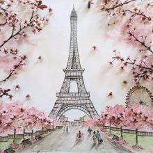Картинки Эйфелевой башни для срисовки (16 фото)