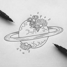 Картинки для срисовки в скетчбук космос (23 фото)
