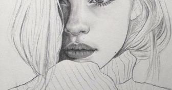 Картинки для срисовки девочки в стиле тумблер (31 фото)