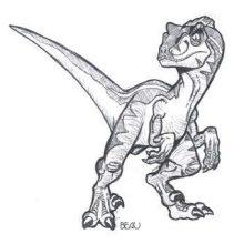 Рисунки для срисовки динозавров (33 фото)