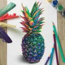Картинки ананаса для срисовки (15 фото)
