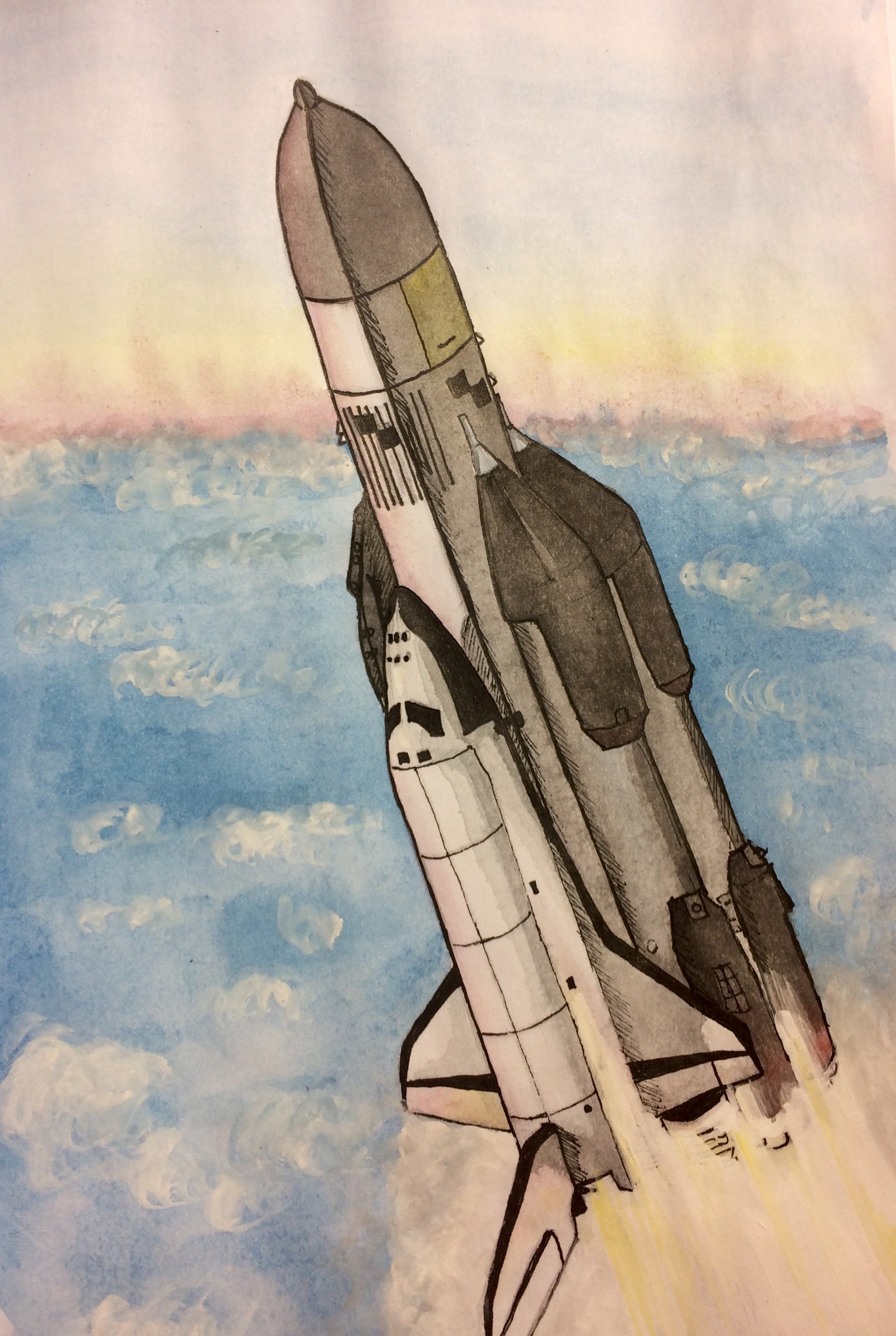 Картинки ракета карандашом