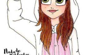 Рисунки для срисовки девочки в пижамах (15 фото)