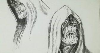 Рисунки для срисовки смерть (24 фото)