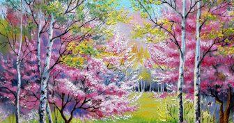 Рисунки легкий весенний пейзаж для срисовки (24 фото)