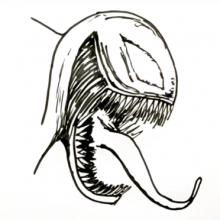 Рисунки Веном карандашом для срисовки (17 фото)
