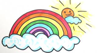 Рисунки для срисовки радуга (17 фото)