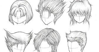 Картинки аниме прически для срисовки (16 фото)