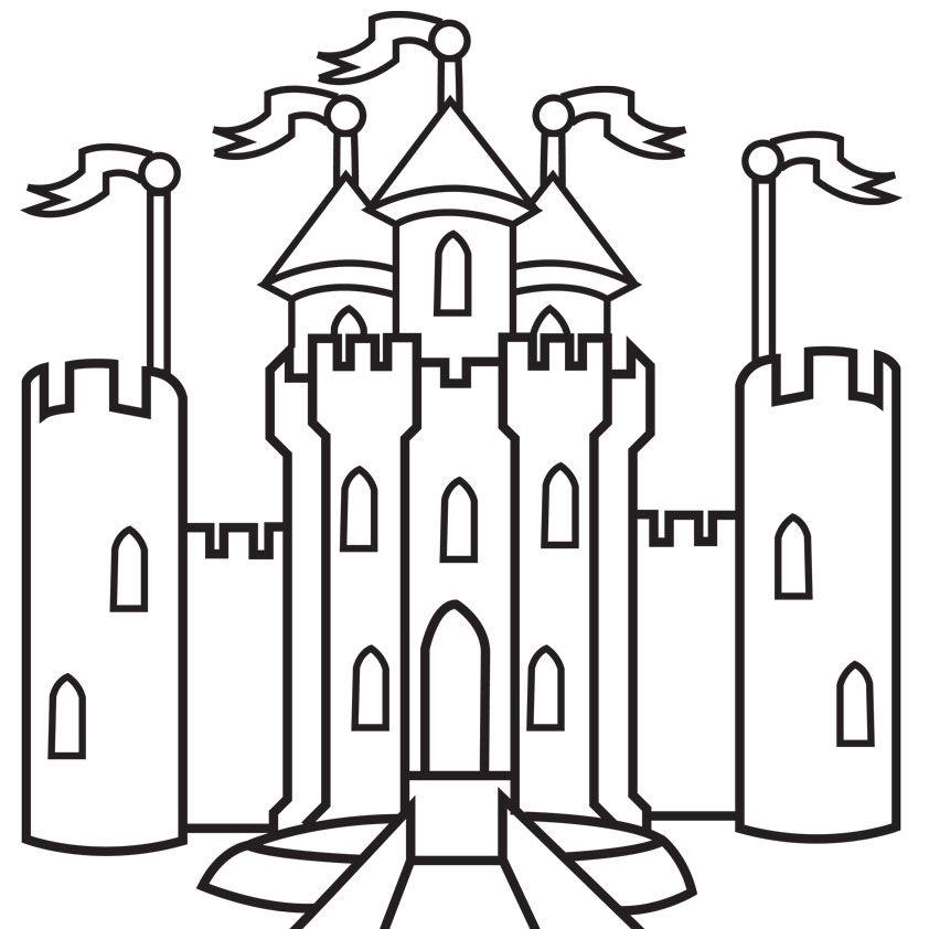 Картинки сказочные замки карандашом