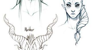 Рисунки карандашом для срисовки демоны (23 фото)