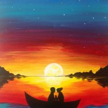 Рисунки заката для срисовки (51 фото)