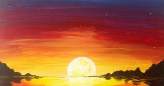 Рисунки заката для срисовки (21 фото)