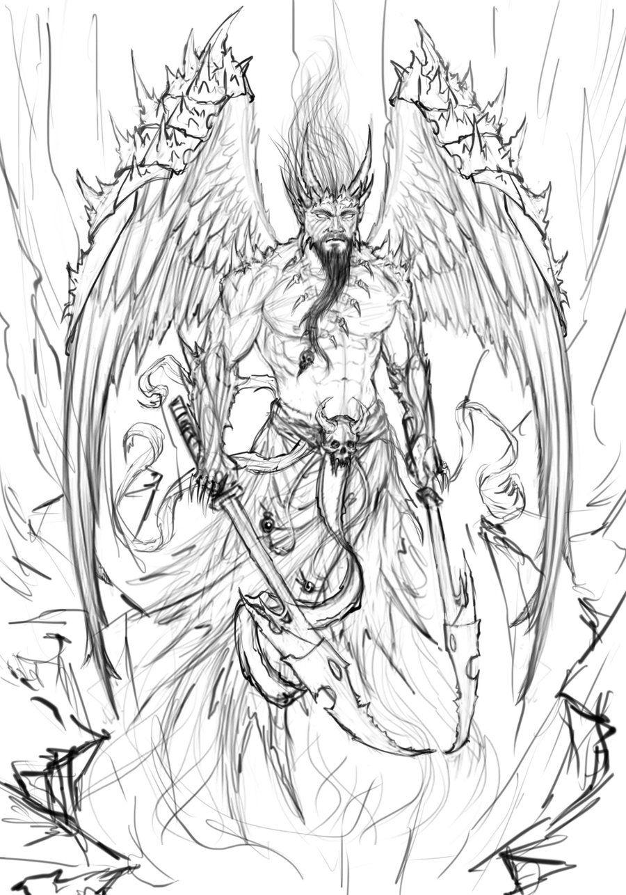 Демоны картинки для рисования