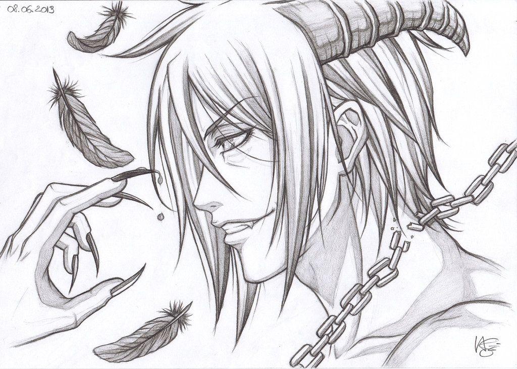 Картинки для срисовки дьяволы