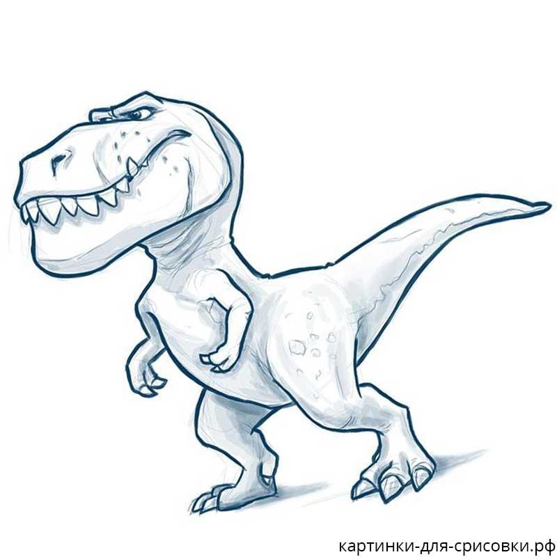 них легкие рисунки динозавров карандашом друга, потому лицо