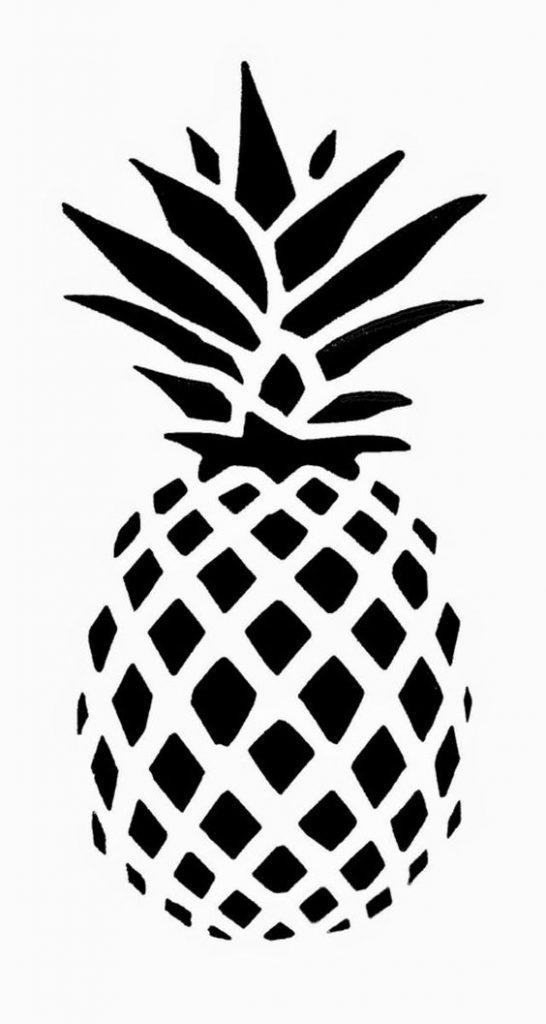Картинки ананаса для срисовки 15 фото Прикольные
