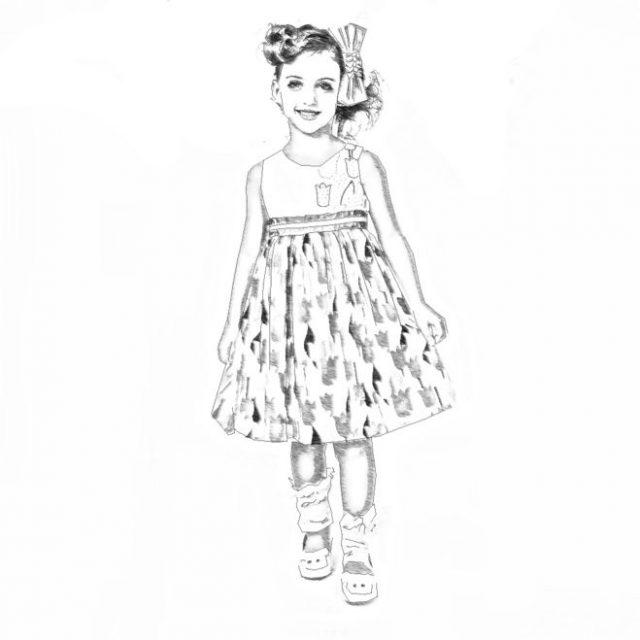 Девочка во весь рост рисунок