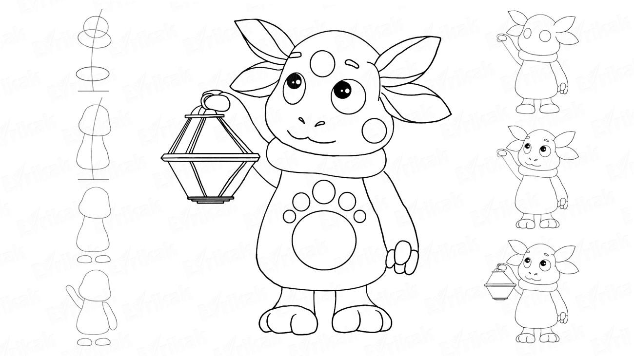 Детские картинки для рисования карандашом