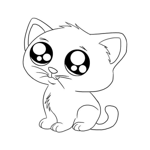 Рисунки котики арты для срисовки (25 фото) 🔥 Прикольные ...