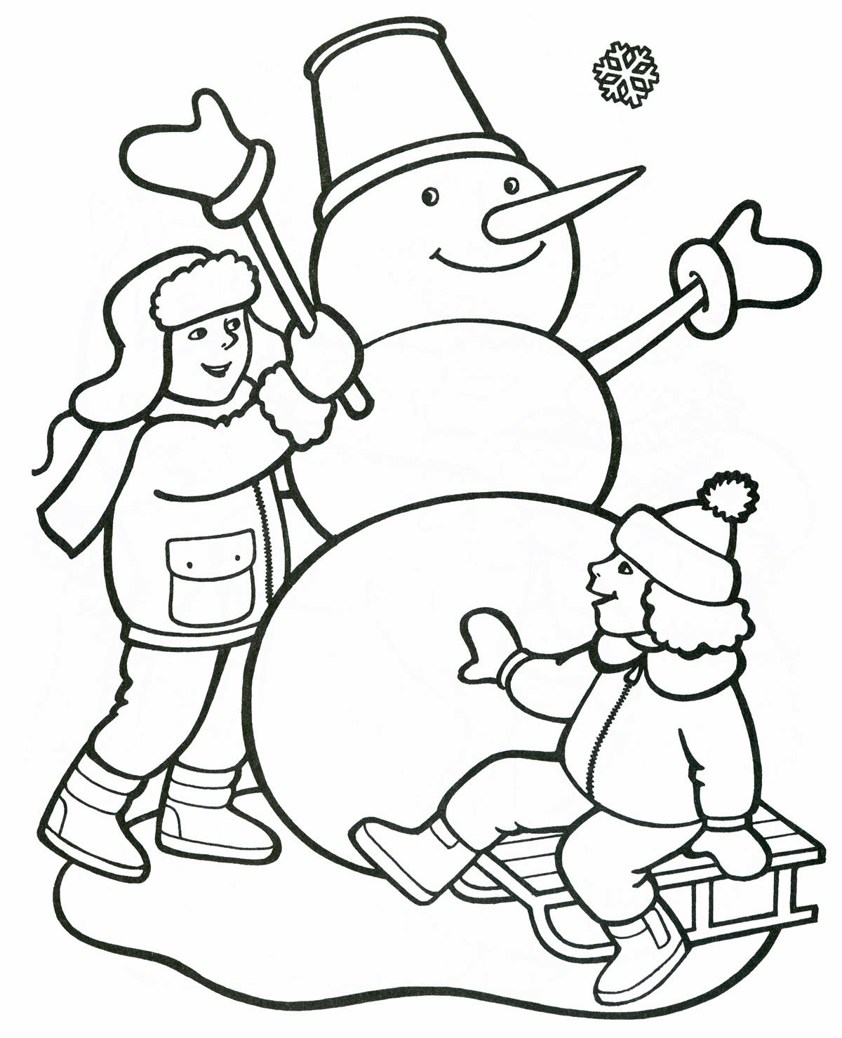 Картинки контуром на тему зима