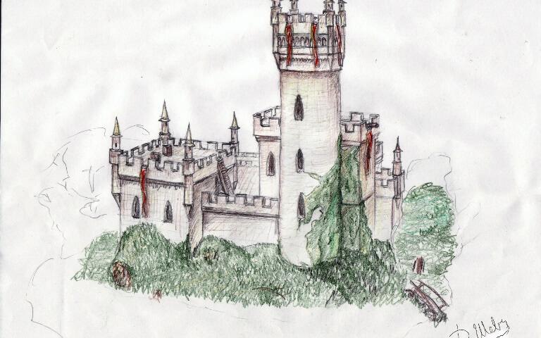 Старый замок картинки как нарисовать
