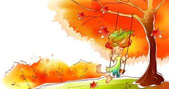 Рисунки для срисовки на тему осень (26 фото)