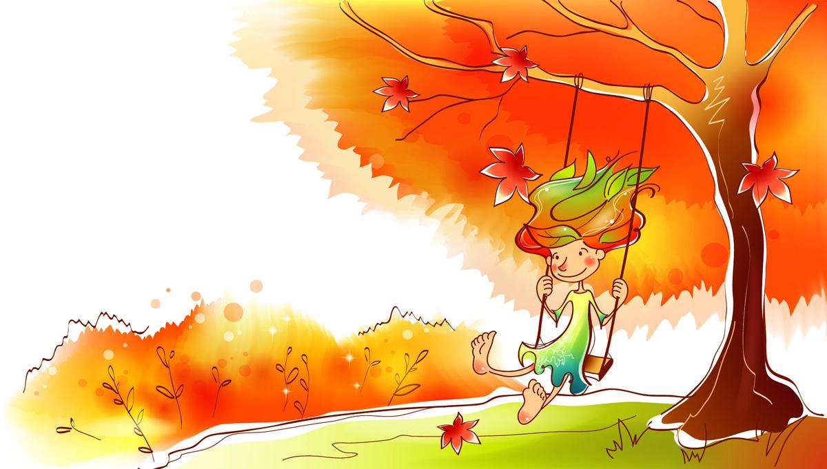 Рисунки для срисовки на тему осень (26 фото) 🔥 Прикольные ...  Девушка Осень Рисунок