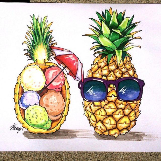 фото картинки ананас прикольные жизнь всех разносит