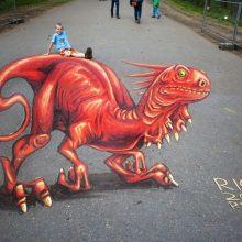 Рисунки для срисовки мелками на асфальте (30 фото)