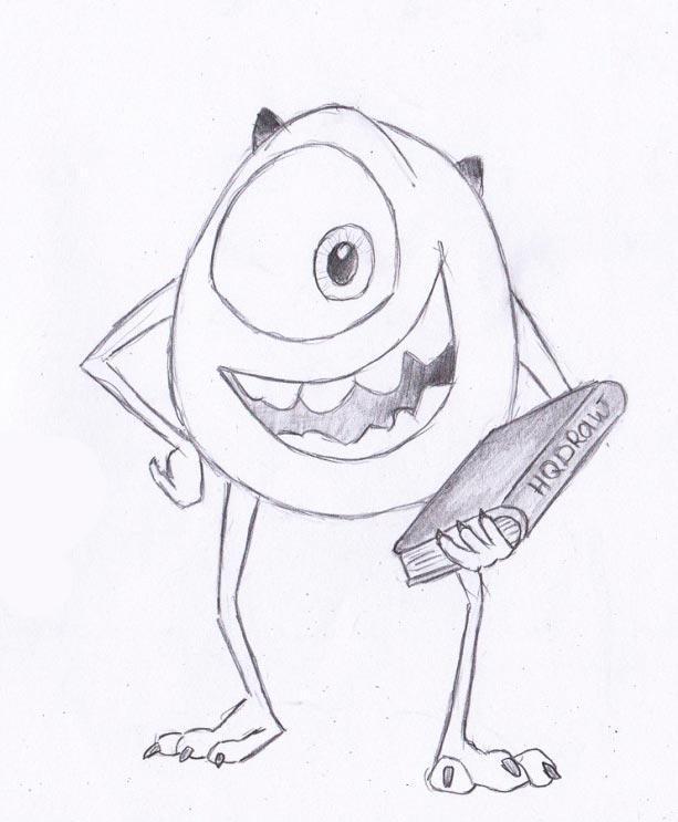 Картинки для срисовки карандашом мультики поэтапно