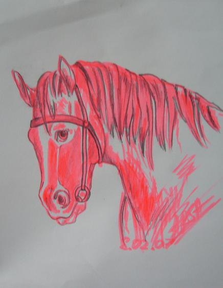 она рисунок к рассказу конь с розовой гривой легкий начале века