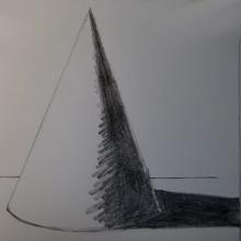 Рисунки карандашом конус с тенью (15 фото)