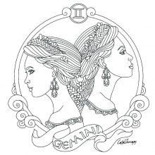 Рисунок карандашом знак зодиака близнецы (15 фото)