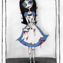 Рисунки карандашом «Каролина в стране кошмаров» (15 фото)
