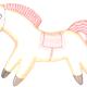Рисунки карандашом «Конь с розовой гривой» (15 фото)