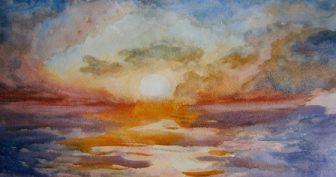 Картинки для срисовки гуашью закат (15 фото)