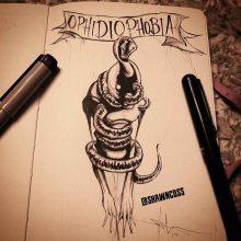 Фобии в рисунках карандашом с подписями (30 фото)
