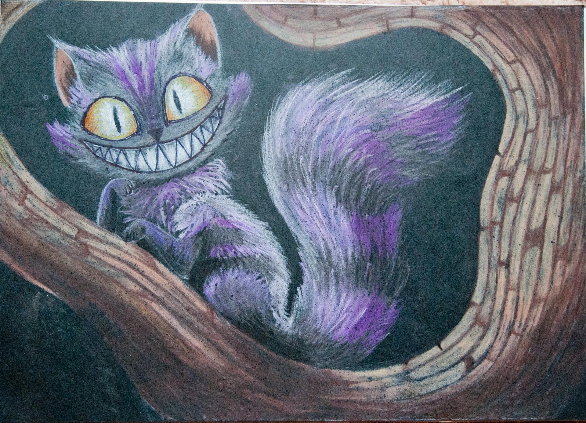 идет рисунки чеширский кот простым мужчина