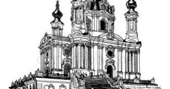 Рисунки церкви для срисовки (29 фото)