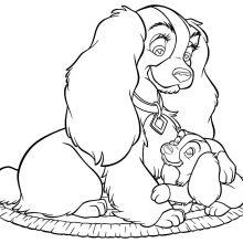 Рисунки карандашом «Леди и Бродяга» (27 фото)