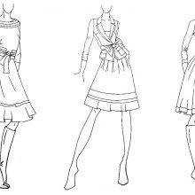Рисунки карандашом манекены для одежды (18 фото)