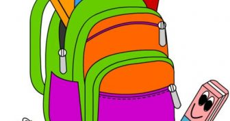 Рисунки для срисовки школьные принадлежности (20 фото)