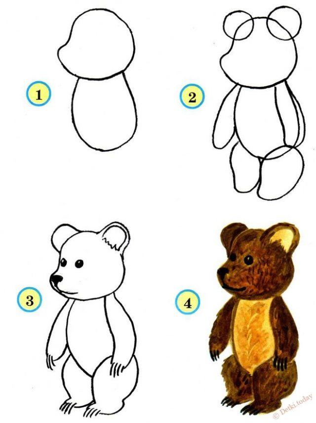 Рисования карандашом для детей картинки