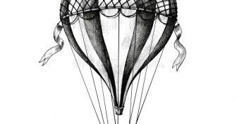 Рисунки карандашом дом на воздушном шаре (16 фото)